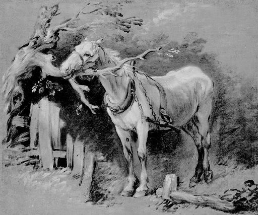 An Old Horse circa 1755 by Thomas Gainsborough 1727-1788