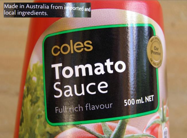 Coles-Tomato-Sauce-with-cheap-imported-ingredients