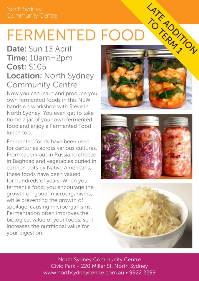 April Fermented Food